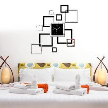 Living Room 3D Acrylic Wall Clock