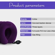 Inflatable Air Cervical Neck Pillow